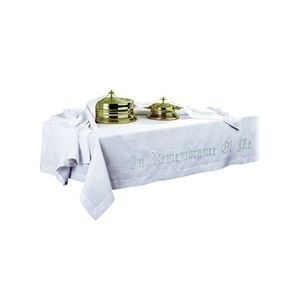 In Remembrance Of Me Table Cover - Your Choice of Fabric