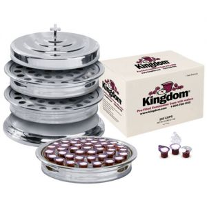 Communion Tray Sets Silvertone with Prefilled Communion Cups