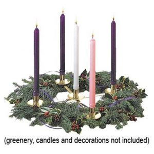 Advent Wreath Centerpiece 17 Inches