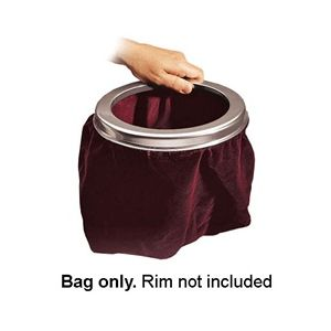 Large Capacity Velvet Offering Bag - Maroon_1
