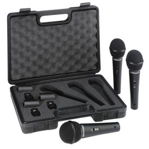 Behringer XM1800S 3 Microphone Eco-Pack