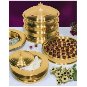 Stainless Steel Communion Ware - Brasstone Finish-1
