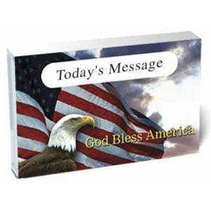 God Bless America Eagle O-Card Audio Cassette Sleeves