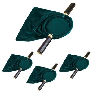 Velveteen Offering Bag - 4 Pack Green