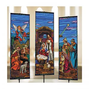 Set of 3 Nativity Banners