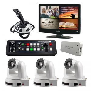 Complete HD Computer Controlled Video Camera System with Extra Camera