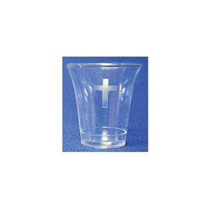 Disposable Communion Cups Crystal Plastic with Cross
