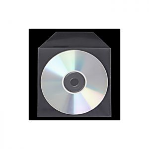 CD Clear Polypropylene Sleeves with Flap