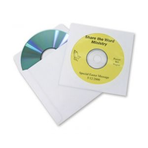 CD DVD Kingdom EconoSleeve with Window - White