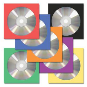 CD/DVD Paper Sleeves in Choice of 7 Colors