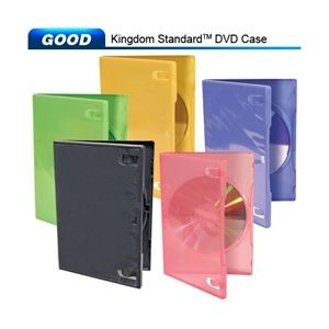 1-disc Capacity Commercial  DVD-CD Cases in Choice Colors