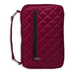 Burgundy Quilted Bible Covers - Pack Of 3