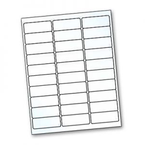 Crystal Clear Title Labels for Inkjet Printer - 2.625 Inches x 1 Inch