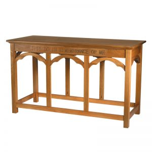 Oak Finish Communion Table