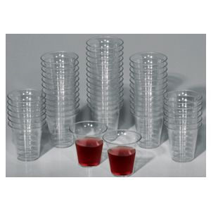 Disposable Communion Cups Crystal Clear Plastic