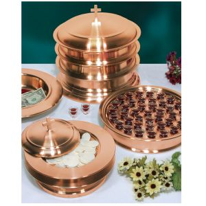 Stainless Steel Communion Ware - Copper Plated Finish-1