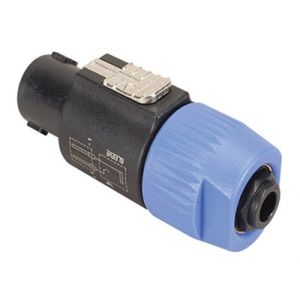 Neutrik NA4LJ Speakon to 1/4 Inch Female Adapter