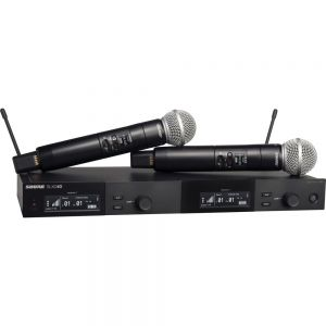 Shure SLXD24D/SM58 Dual-Channel Digital Wireless Handheld Microphone System with SM58