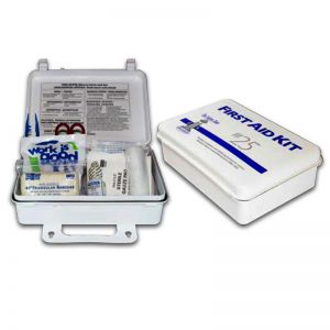 First Aid Kit w/ Wall Mountable Handle