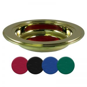 Gold offering Plates with color pads