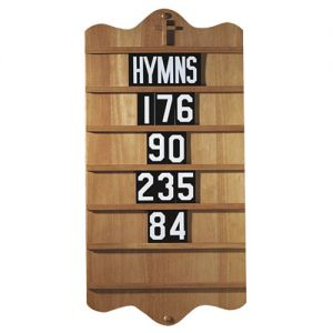Pecan Finish Hymn Board