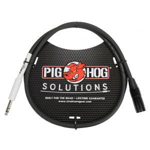 "Pig Hog Solutions - XLR male to 1/4"" TRS, 3ft"