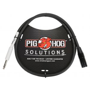 "Pig Hog Solutions - XLR male to 1/4"" TRS, 6ft"