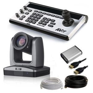 AVer 1 Camera, 30x PTZ Robotic Camera Package w Joystick & Live Streaming Capture Device