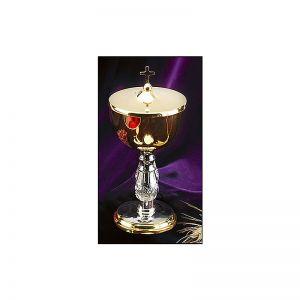Two-Tone Ciborium with Cross Cover