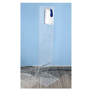 ACRYLIC HAND SANITIZER 35 CM WIDE DISPENSER STAND