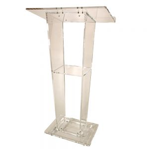 Tapered Center Style Podium With Shelf