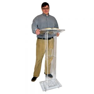 Compact Presenter Podium With Shelf