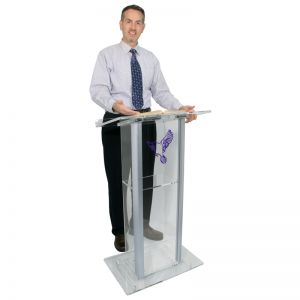 Personalized Contemporary Acrylic Lectern