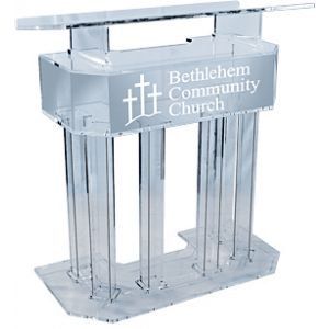 Personalized Three-tier Acrylic Lectern Clear