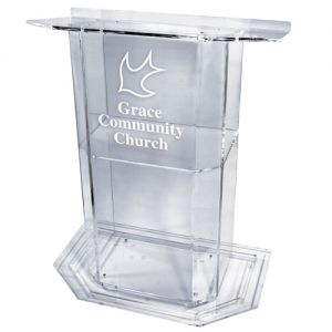 Personalized Large Majestic Acrylic Lectern
