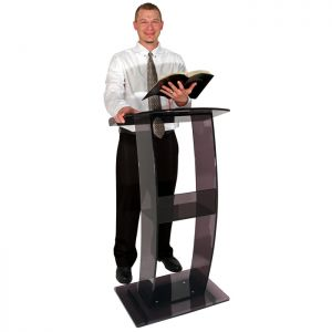 Acrylic Lectern C Style Design - Available in a Variety of Colors