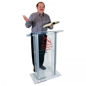 Personalized Franklin Acrylic Lectern