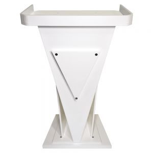 Victory Acrylic Pulpit White