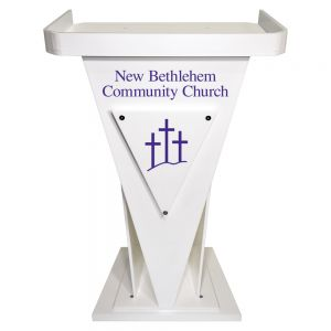 Personalized Victory Acrylic Pulpit White