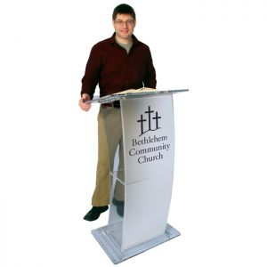 Personalized Eclipse Acrylic Lectern