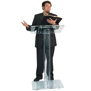 Acrylic Lectern Single Column Design