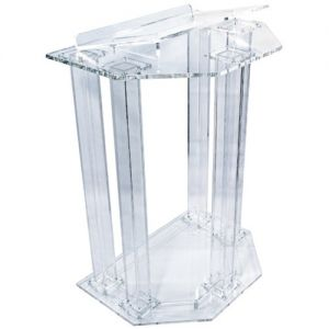 Acrylic Lectern Faceted Column Style