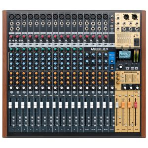 Tascam Model 24 Digital/Analog Hybrid Mixer With Multi-Track Recorder