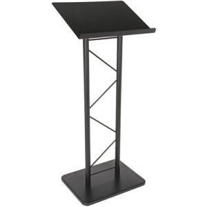 2 Post Truss Metal Lectern Black