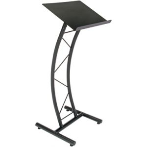 Curved Metal Lectern Black