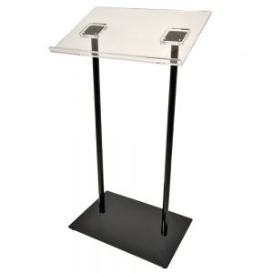 Metal Double Column Pulpit with Acrylic Top