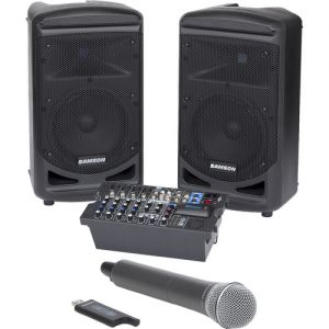 Samson Expedition XP800 800W Portable PA System with Stage XPD1 Handheld Wireless Microphone System_1