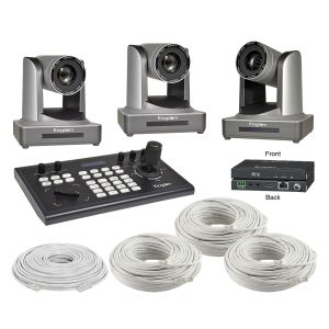 Kingdom Remote Controlled 30x HD Base-T Three Camera Package
