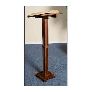 Small Column Wooden Lectern in Walnut