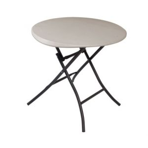 33 Diameter Single Motion Folding Serving Table Choice of Colors 1